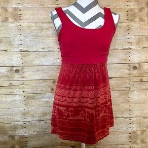 [Athleta] Orange/Red Casual Dress M